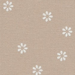 Toile Murano Zweigart 12,6fils/cm - largeur 140cm - lin clair à fleurs blanches