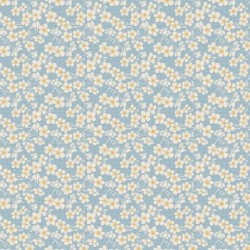 Cherry Blossom Blue - au mètre - laize 110cm - tissu Tilda