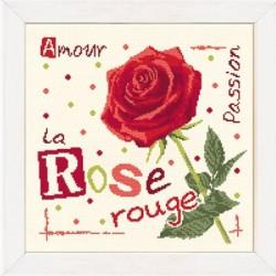 La rose rouge - Lilipoints - Semi-kit diagramme+fils