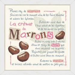 La crème de marrons - Lilipoints - Semi-kit diagramme+toile