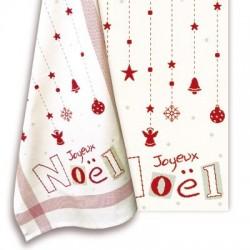 Le torchon Joyeux Noël - Lilipoints - Semi-kit diagramme+fils