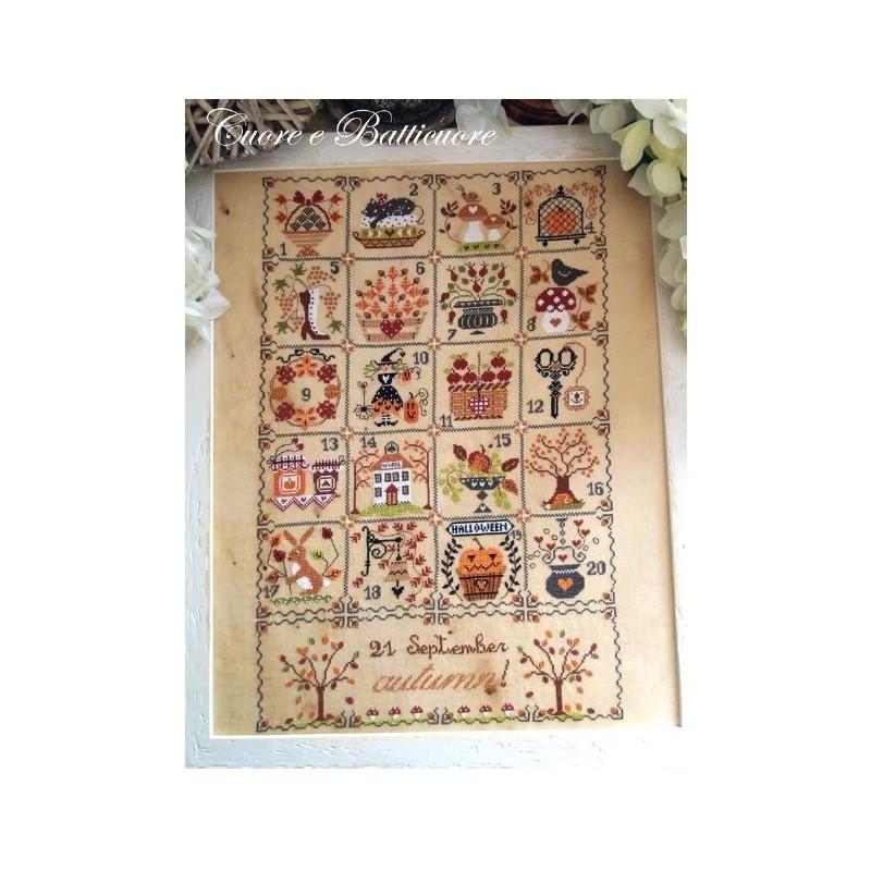 Shabby Autumn Calendar - Cuore e Batticuore