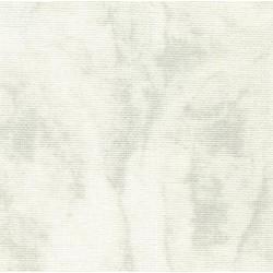 Lin Zweigart Belfast 12,6 fils/cm largeur 140cm - blanc marbré gris