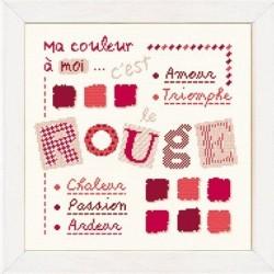 Rouge - Lilipoints - Semi-kit diagramme+toile