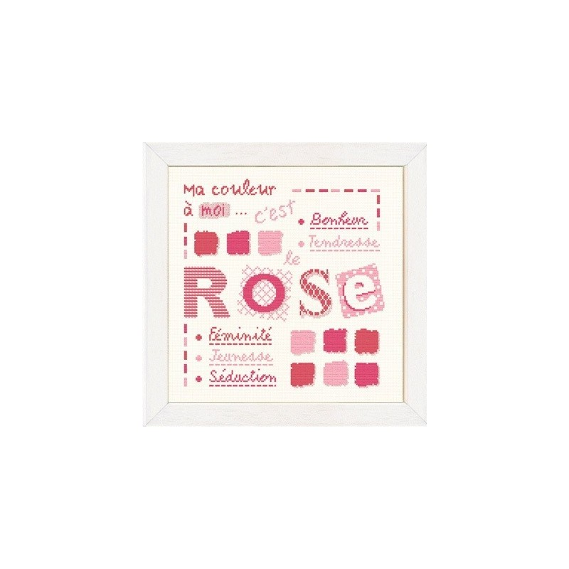 Rose - Lilipoints - Semi-kit diagramme+toile