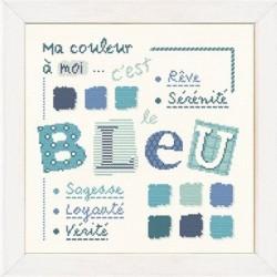 Bleu - Lilipoints - Semi-kit diagramme+toile