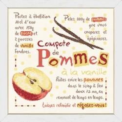 La compote de pommes à la vanille - Lilipoints - Semi-kit diagramme+toile