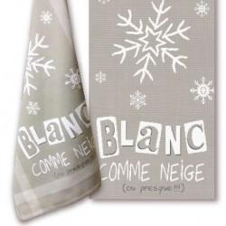 Blanc comme neige - Lilipoints - Semi-kit diagramme+torchon