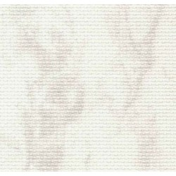 Toile Aïda Zweigart 7pts/cm - largeur 110cm - blanc marbré gris