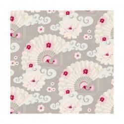 Chinese Fan Lin Grey - coupon 50x55cm - tissu Tilda