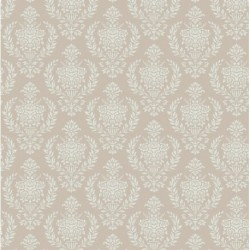Damask Warm Grey - coupon 50x55cm - tissu Tilda