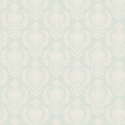 Damask Teal - coupon 50x55cm - tissu Tilda