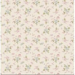 Lotta White - coupon 50x55cm - tissu Tilda