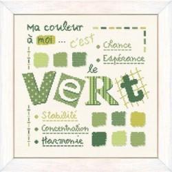 Vert - Lilipoints - Semi-kit diagramme+torchon