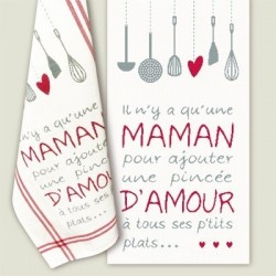 Maman d'amour - Lilipoints - pack complet torchon