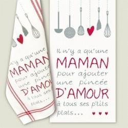 Maman d'amour - Lilipoints - Semi-kit diagramme+torchon