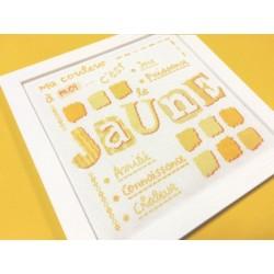 Jaune - Lilipoints - Semi-kit diagramme+fils