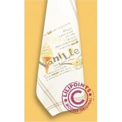 La glace à la vanille - Lilipoints - pack complet torchon