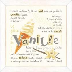 La glace à la vanille - Lilipoints - Semi-kit diagramme+toile