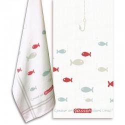 Comme un poisson dans l'eau - Lilipoints - pack complet torchon