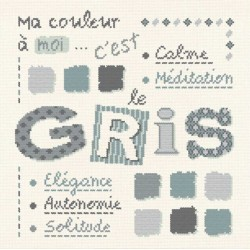 Gris - Lilipoints - semi-kit diagramme+toile