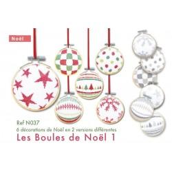 Les boules de Noël 1 - Lilipoints - semi-kit diagramme+toile
