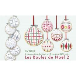 Les boules de Noël 2 - Lilipoints - semi-kit diagramme+toile
