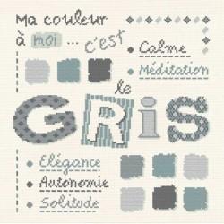 Gris - Lilipoints - pack complet torchon