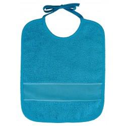 Bavoir à broder turquoise