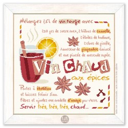 Le vin chaud - Lilipoints - Semi-kit diagramme+toile