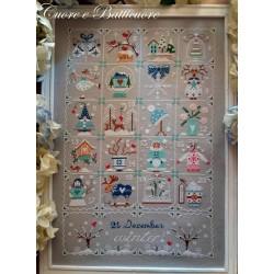 Shabby Winter Calendar - Cuore e Batticuore