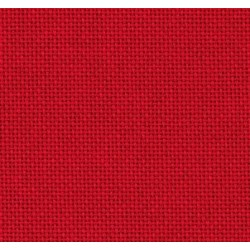 Lugana Zweigart 10 fils/cm - laize 140cm - rouge