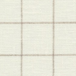 Lin Zweigart Belfast 12,6fils/cm - largeur 140cm - ivoire à carreaux