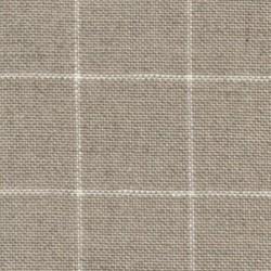 Lin Zweigart Belfast  Carré 12,6fils/cm - laize 140cm - lin à carreaux blancs