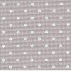Toile Aïda Zweigart 7fils/cm - 50x55cm - gris à petits points blancs