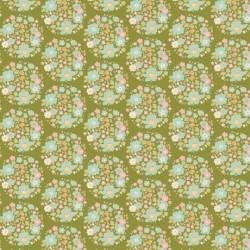 Flower Nest Green - au mètre - laize 110cm - tissu Tilda