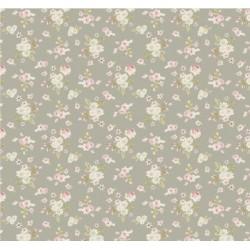 Lotta Grey - coupon 50x110cm - tissu Tilda