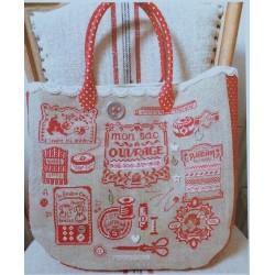 Le sac à ouvrages Rouge toujours - Des Histoires à broder