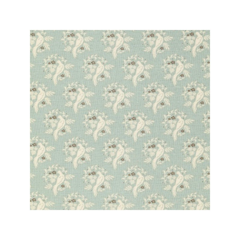 Bird Bluegrey - coupon 50x110cm - tissu Tilda