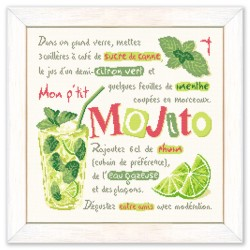 Le mojito - Lilipoints - Semi-kit diagramme+toile