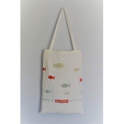 Comme un poisson dans l'eau - Lilipoints - pack complet sac aïda 8pts/cm blanc