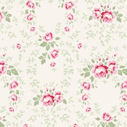 Lucy Red Rose - coupon 50x55cm - tissu Tilda