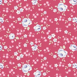 Eliza Raspberry - coupon 50x110cm - tissu Tilda