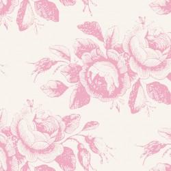 Mary Pink - coupon 50x110cm - tissu Tilda