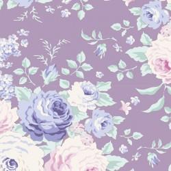 Lydia Lavender - coupon 50x55cm - tissu Tilda