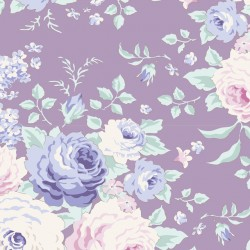 Lydia Lavender - coupon 50x110cm - tissu Tilda