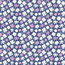Pompom Blue - coupon 50x55cm - tissu Tilda