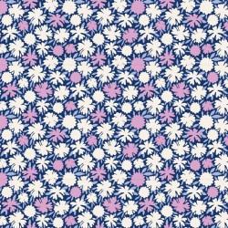 Pompom Blue - coupon 50x110cm - tissu Tilda