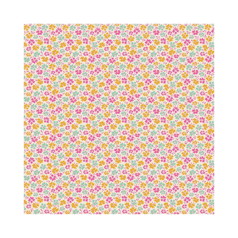 Flowerfield Yellow - coupon 50x110cm - tissu Tilda