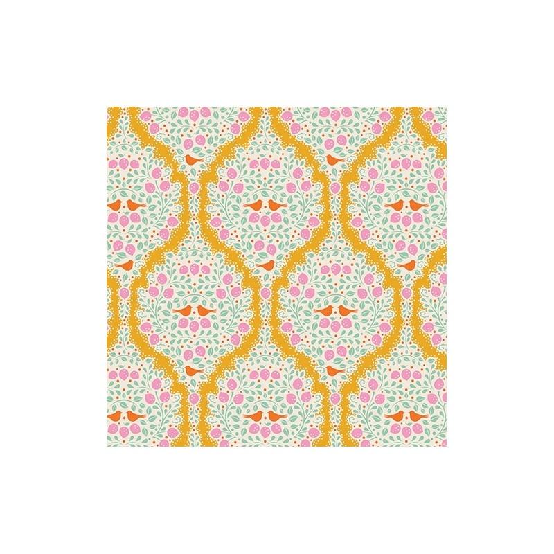 Lemonade Yellow - coupon 50x110cm - tissu Tilda